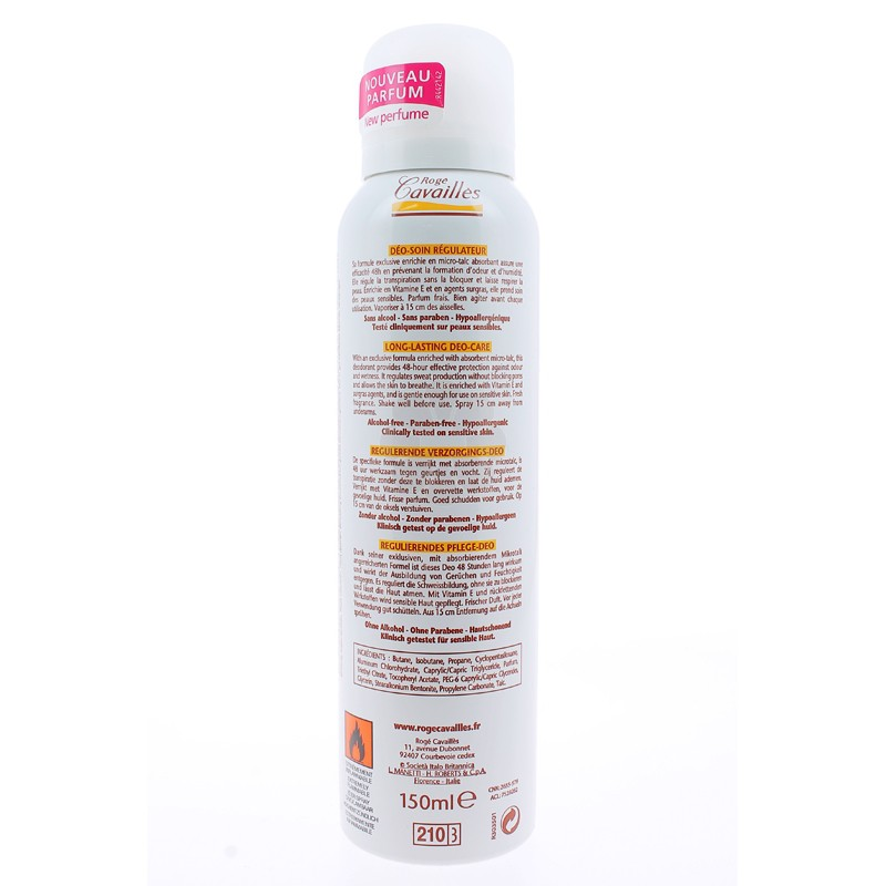 DEO-SOIN REGULATEUR SPRAY ROGE CAVAILLES 150ML