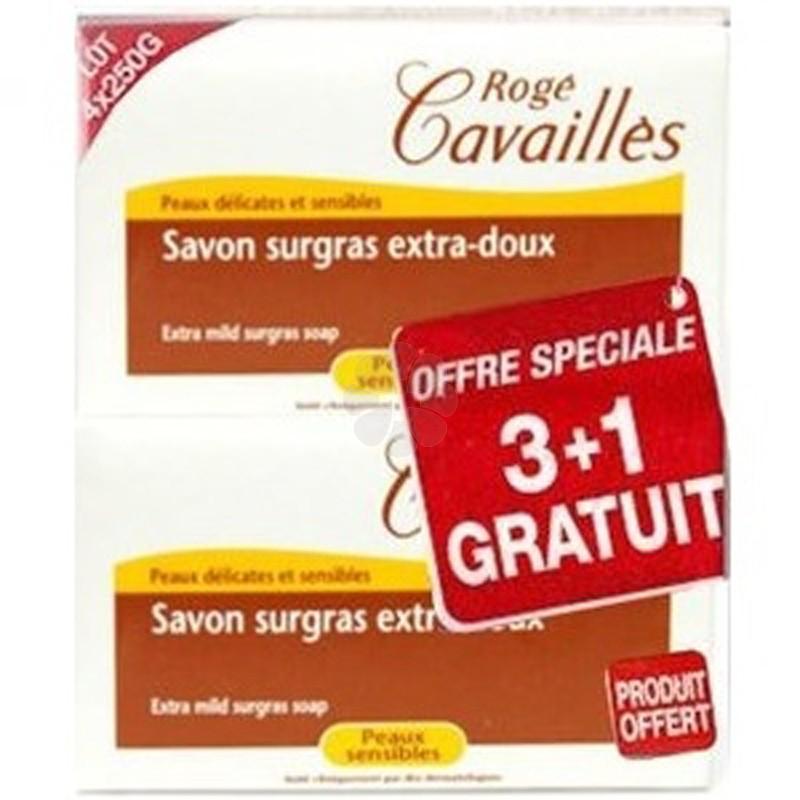 SAVON SURGRAS EXTRA DOUX ROGE CAVAILLES 4 x 250G