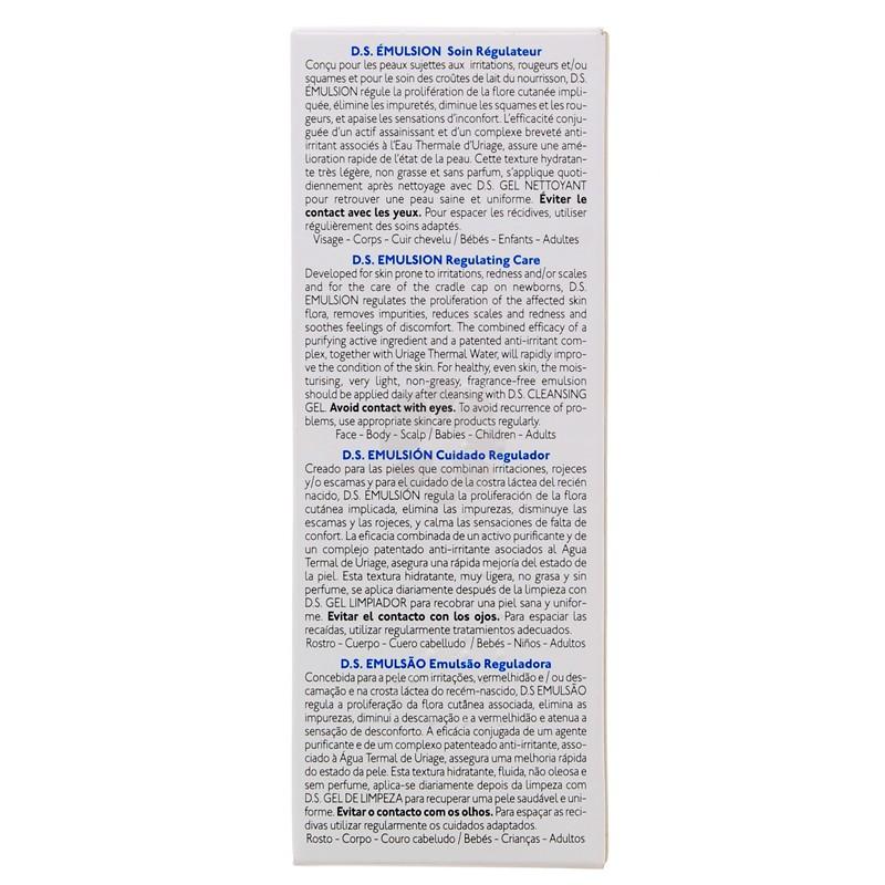 D.S. EMULSION SOIN REGULATEUR URIAGE 40ML