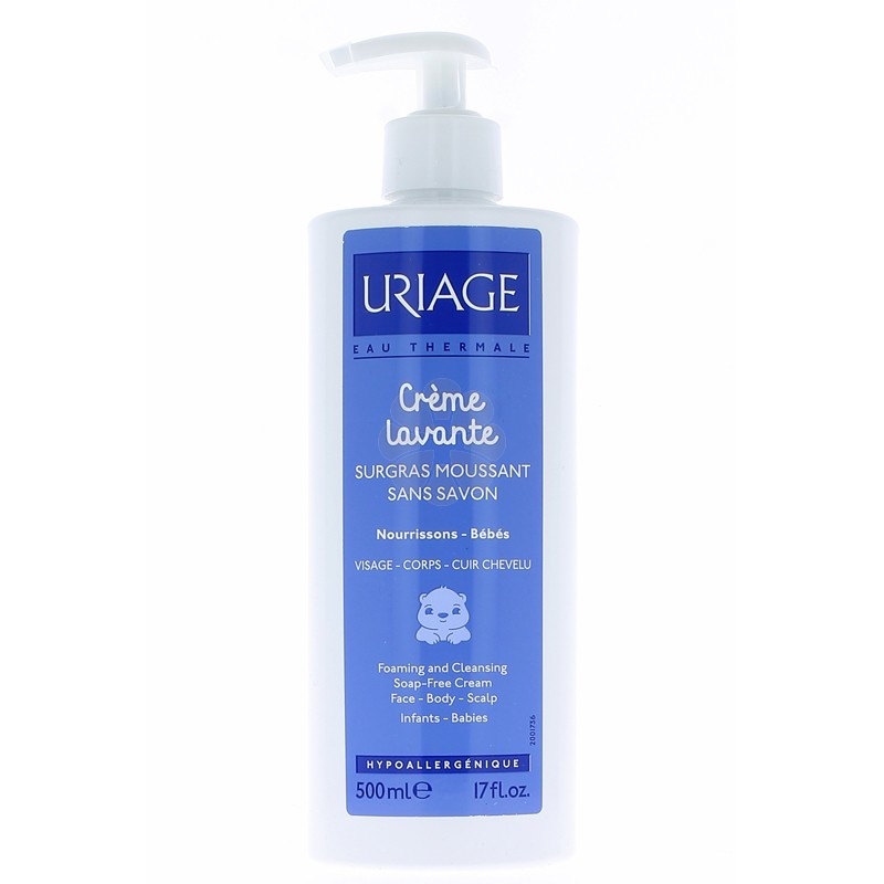 CREME LAVANTE SURGRAS MOUSSANT  BEBE URIAGE 500 ML