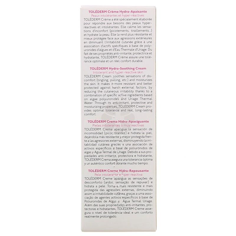 TOLEDERM CREME HYDRA-APAISANTE URIAGE 50 ML