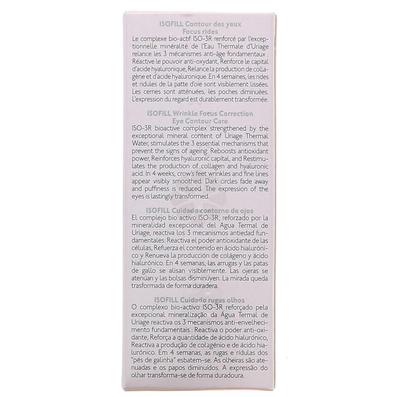 ISOFILL CONTOUR DES YEUX FOCU RIDES URIAGE 15 ML