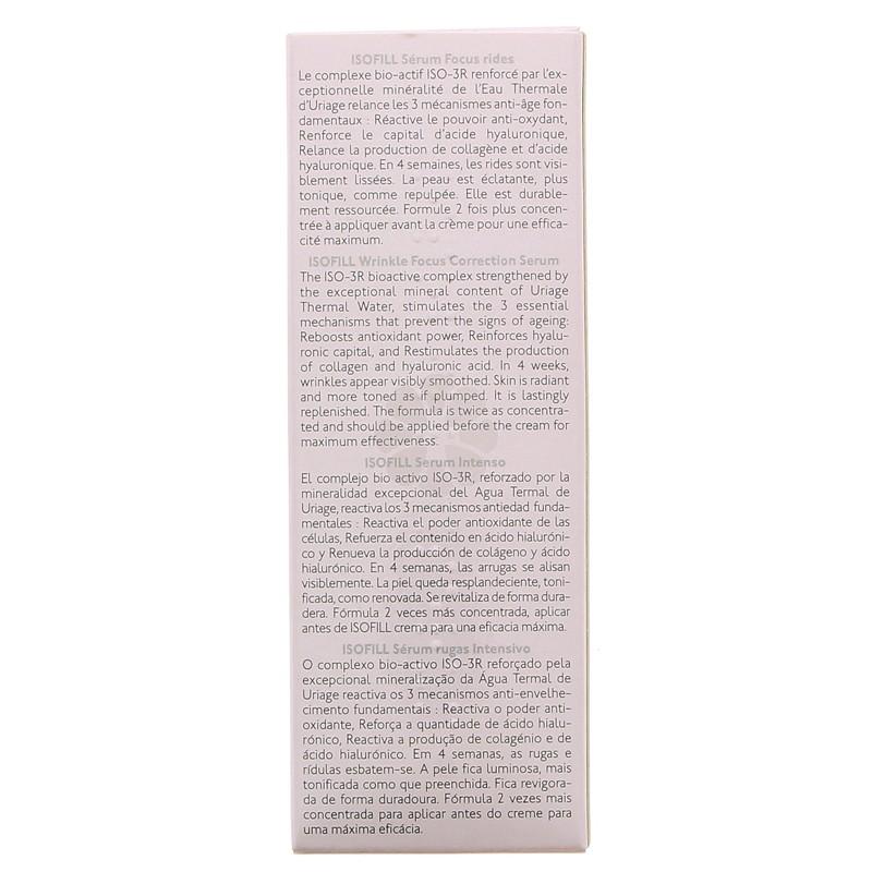 ISOFILL SERUM FOCUS RIDES URIAGE 30 ML