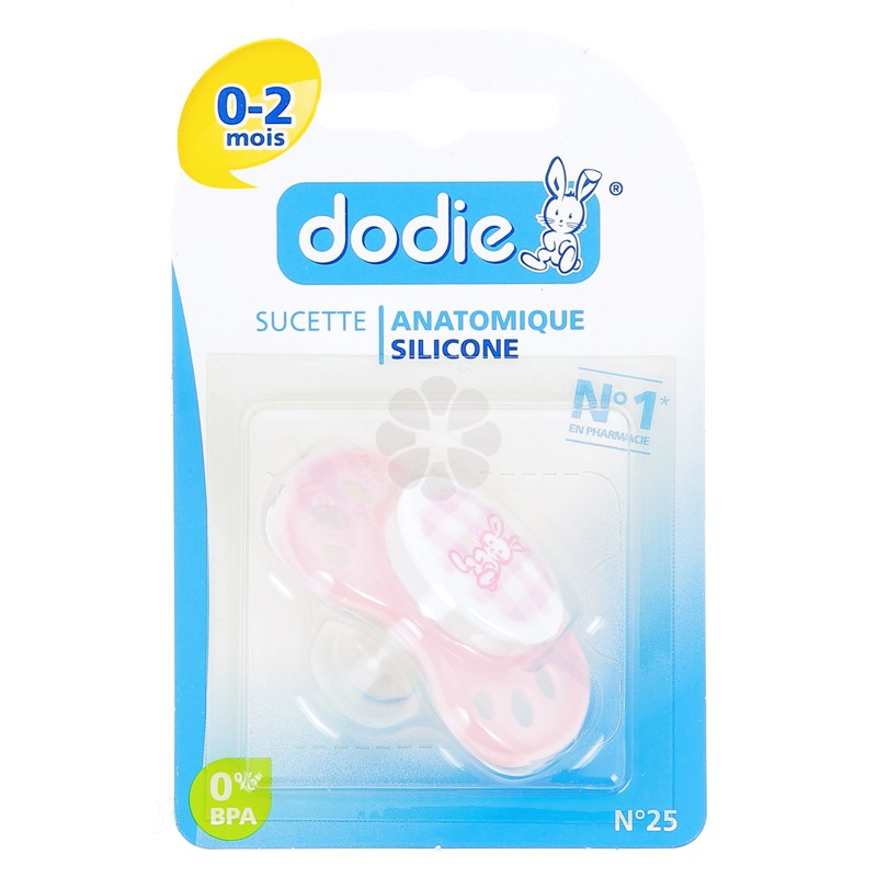 SUCETTE DODIE ANATOMIQUE SILICONE 0-2 MOIS