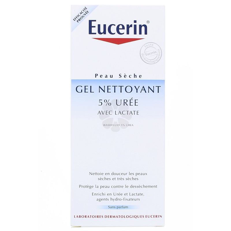 GEL NETTOYANT 5% UREE EUCERIN 200ML