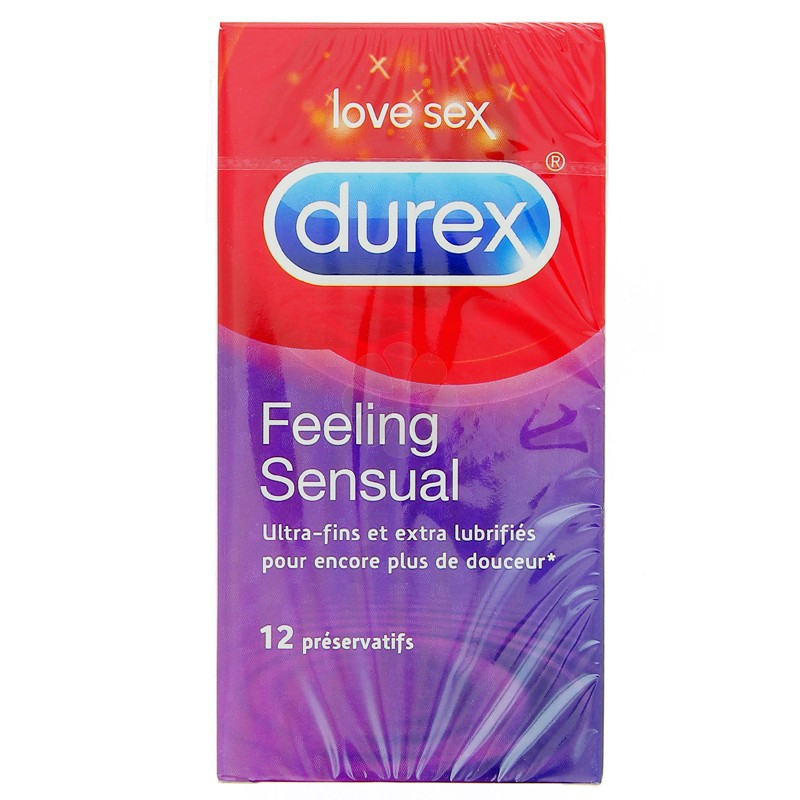 PRESERVATIFS DUREX FEELING SENSUAL x 12