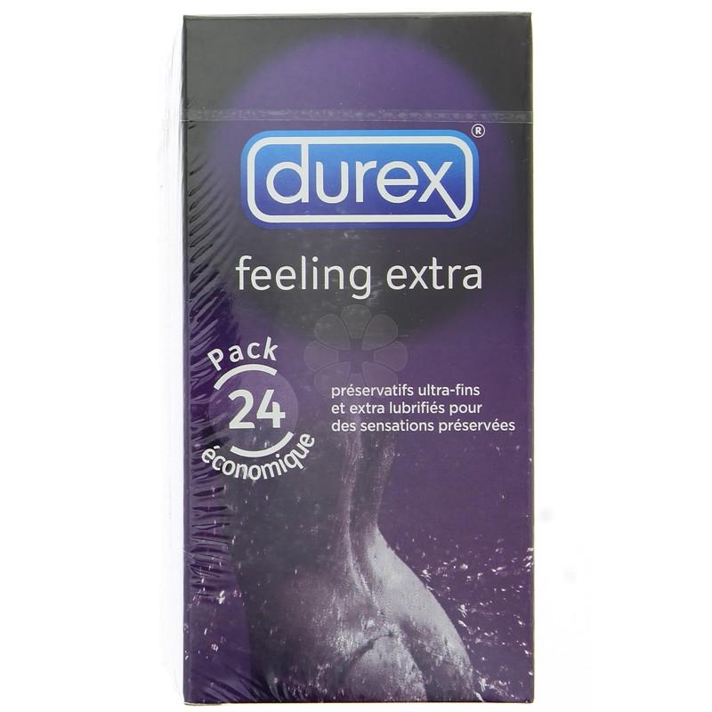 PRESERVATIFS DUREX FEELING SENSUAL x 24