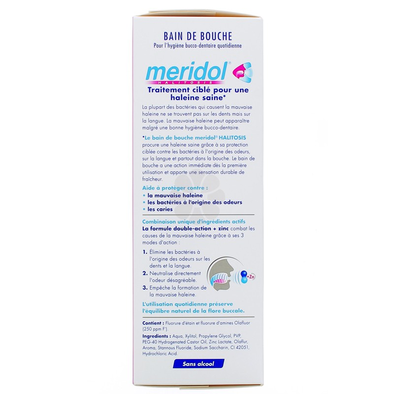 BAIN DE BOUCHE MERIDOL HALITOSIS 400ML -15%